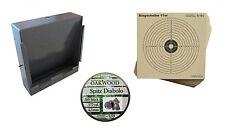 Kugelfangkasten + Zielscheiben für Luftdruckwaffen + OAK WOOD Spitz Diabolo OVP