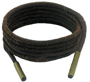 Schuh und Boot Schnürsenkel Dunkelbraun 3 mm rund Leder