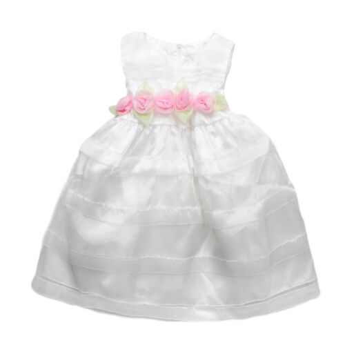 Little Girl Princess Birthday Party Wedding Flower Lace Gown Pageant Bow Dress