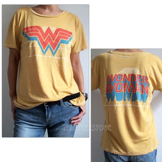 Junk Food Wonder Woman Part Burnout Tri-Blend Loose Fits Ex-Boyfriend T-shirt