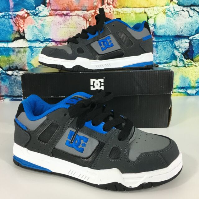 DC Stag Skate Shoes Blue Gray White