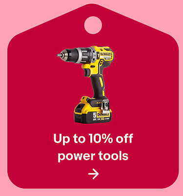 Up to 10% off power tools