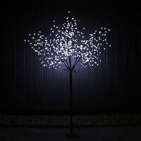 led lichterbaum gartenbeleuchtung aussen baum b umchen kirschbaum bl ten ebay. Black Bedroom Furniture Sets. Home Design Ideas