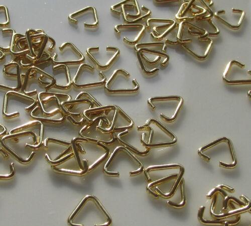 Joyería Artesanal Diseño Enchapado En Oro triángulo Pellizco saltar anillo Colgantes 7mm resultados