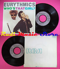 LP 45 7'' EURYTHMICS Who's that girl?Aqua 1983 france RCA PB 61417 no cd mc dvd