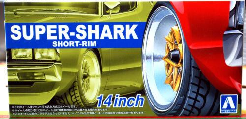 Reifen 1:24 # 92 Aoshima 055489 Super Shark Short Rim 14 Zoll Felgen