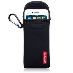 Shocksock-Poche-Neoprene-Coque-avec-Mousqueton-pour-iPhone-7-Plus-8-Noir