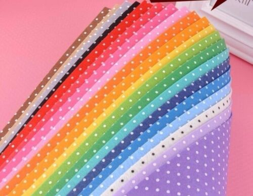 20X  Polyester Polka Dot Printed Fabric Polyester Handmade Nonwoven Material
