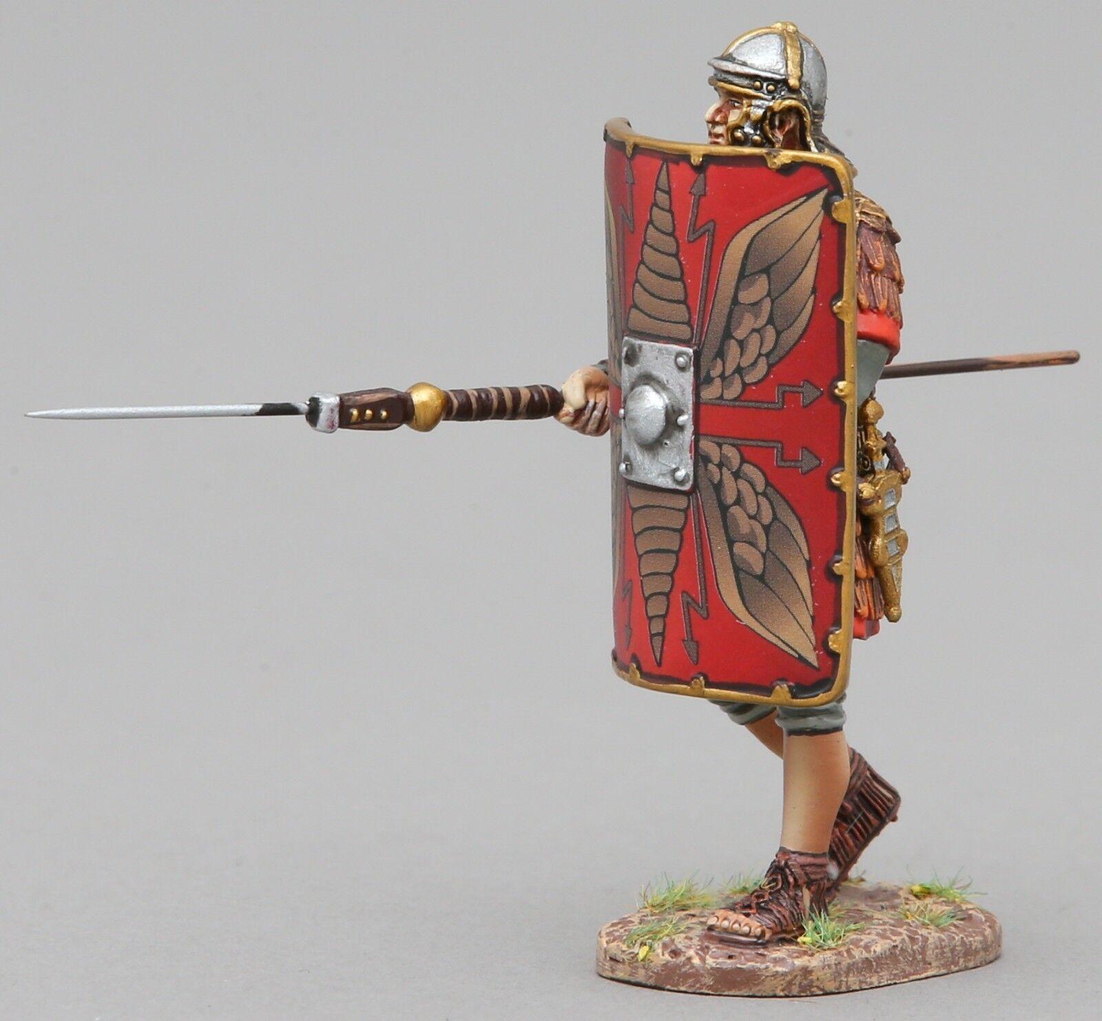THOMAS GUNN ROMAN EMPIRE ROM043A LEGIONNAIRE ADVANCING PILUM LOWERED RED MIB
