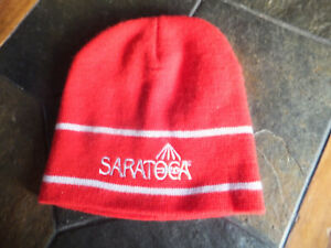 SARATOGA THOROUGHBRED RACE COURSE GIVEAWAY WINTER KNIT BEANIE HAT HORSE TRACK NY