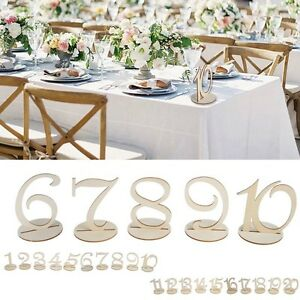 1 1011 20 wooden table numbers set with base birthday wedding party image is loading 1 10 11 20 wooden table numbers set junglespirit Choice Image