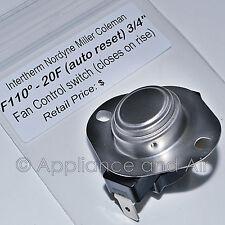 Nordyne 626236 626339 Fan Control Limit Switch Mobile Home Furnace F110 +Instruc