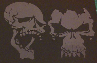 W2 WOLF NIGHT ROCK MOON TREE SKULLS Airbrush Stencil Template Paint Craft Animal