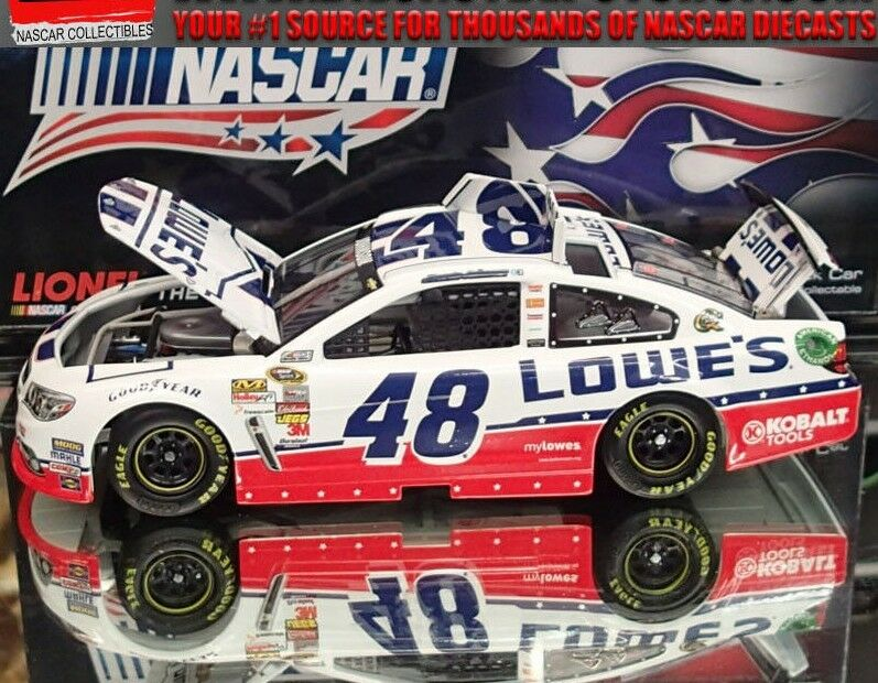 JIMMIE JOHNSON 2013  NASCAR  AN AMERICAN SALUTE  LOWES 1 24 SCALE ACTION NASCAR