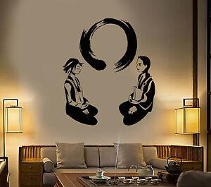 vinyl wall decal yoga meditation room enso circle lotus