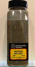 Woodland Scenics B1382 Medium Ballast Grey Shaker 57.7 in³
