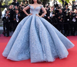 Luxury Blue Quinceanera Dress Gorgeous Formal Prom Pageant Wedding Ball Gowns