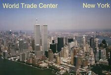 Aerial View of The World Trade Center, Twin Towers, New York City NY -- Postcard