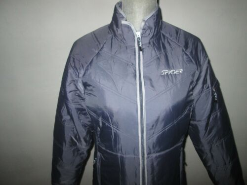 Women's Jakke Vinter Full Grey 10 zip Ny Lightweight Isoleret Spyder Størrelse 580BFF