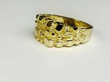 14kt Men's gold nugget design fashion ring 9 grams 11MM