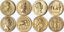 Cleopatra, Brutus, Marcus Aurelius, Julius Caesar,4 Famous Roman Coins (4ROME-G)