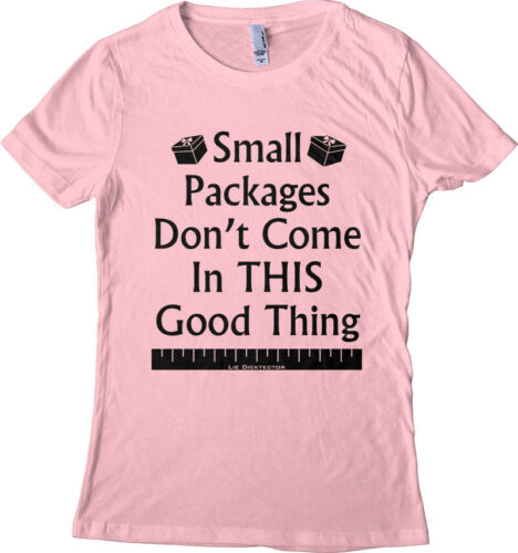 Funny Tiny Dick Tee Women/'s T-shirt Small Packages