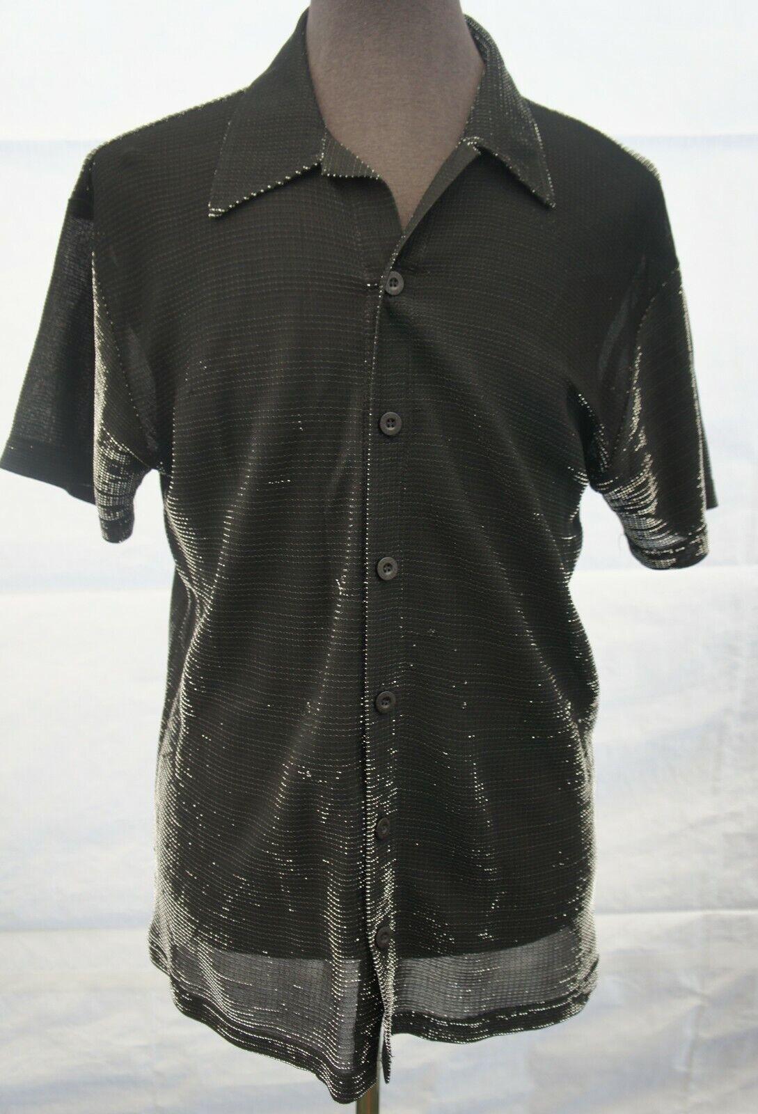 Vintage 40s Yellow Lace Up Longsleeve Rayon Gaucho Shirt Delmonico S Rockabilly