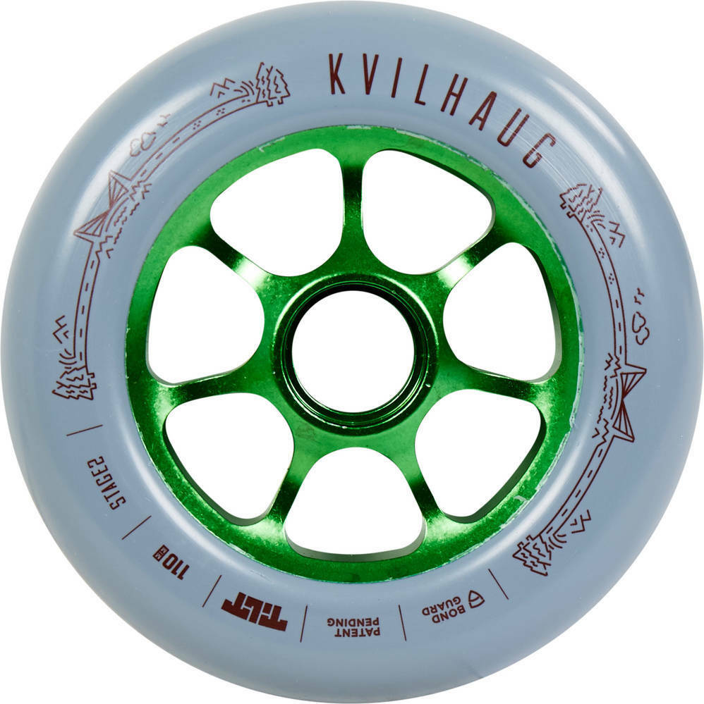 Tilt Tom Kvilhaug Signature 110mm Scooter Wheel - Grau/Grün