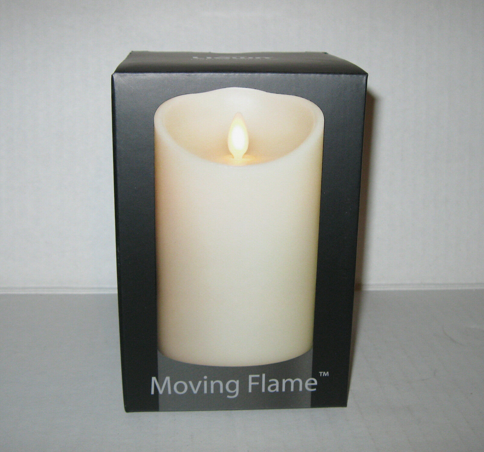Liown Flameless Vanilla Scented Moving Flame Oblique Pillar Candle 3.5  x 5