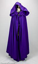 Renaissance Maiden Purple 4 Piece Skirt Top Belt & Hooded Cloak Ladies Costume L