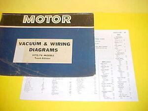 1970 1971 1972 1973 1974 Cadillac Eldorado Deville Calais Vacuum Wiring Diagrams Ebay