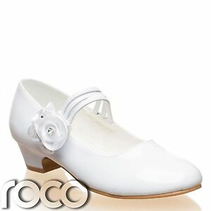 Girls white shoes communion shoes prom shoes flower girl shoes image is loading girls white shoes communion shoes prom shoes flower mightylinksfo