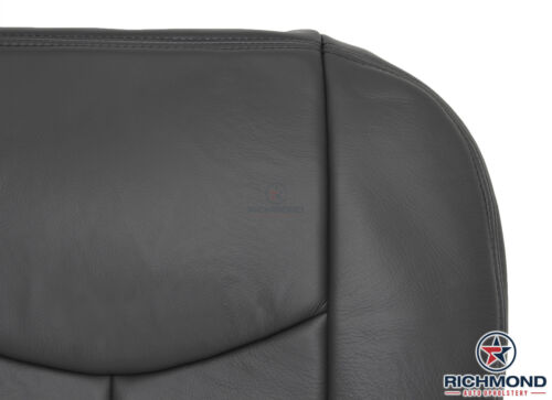 2005 2006 GMC Sierra 1500 2500HD-Driver Side Bottom LEATHER Seat Cover Dark Gray