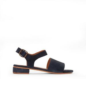 La-Redoute-Collections-Flat-Leather-Sandals-Navy-UK-5-EU-38-LN21-26-SALEs