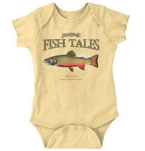 Brook Trout Fishing Fisherman Sporting Goods Fish Gift Infant Baby Romper
