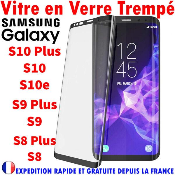 2019 DernièRe Conception Vitre Verre Trempe Samsung S8 S9 S10 3d Film Protection Ecran IntÉgral Total