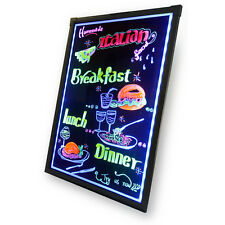16X12 Erasable Flashing Illuminated Menu Sign LED Writing Message Board W Remote