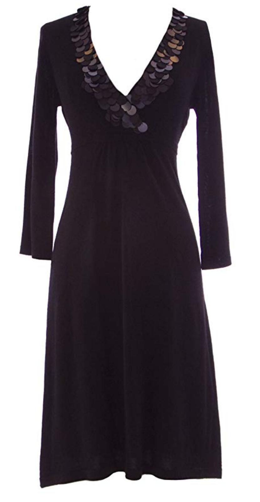 BODEN Paillette Detail Crotver schwarz Dress Größe 10 uk   CR181 EE 05