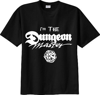 t-shirt i'm THE Dungeon Master D&D dungeons & dragons role play dice rpg TSHIRT