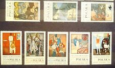 POLAND STAMPS MNH Fi1885-92 Sc1763-70 Mi2032-39 - Polish painting - 1970,clean