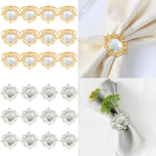 12pcs Acrylique Diamant Design serviette serviette anneau de Noël Fête De Mariage Table Décoration