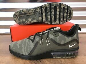 Details about Nike Air Max Sequent PRM Camo Running Shoes Medium Olive Beach SZ ( AR0251 201 )