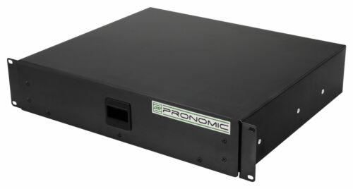 "Rackschublade 2HE 19/"" Snaplock Auszug DJ PA Studio Mixer PC Rack Case Schublade"