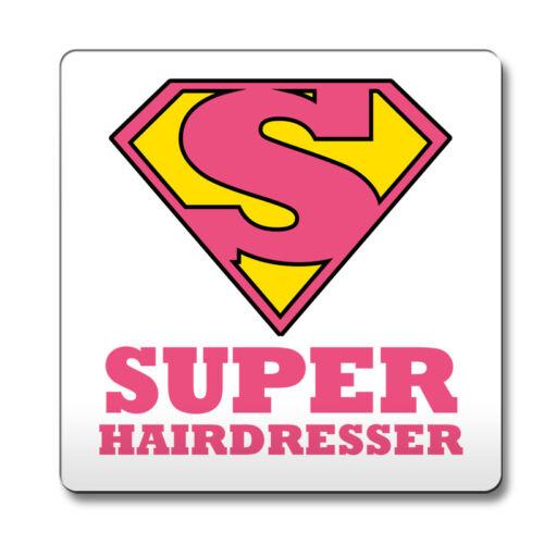 Pink SUPER Hairdresser hero novelty job title Coaster funny 099