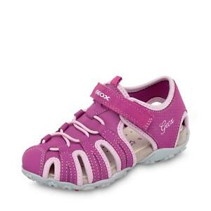 on sale 6e875 d13b8 Details zu Geox Roxanne Kinder Mädchen klassische Sandale Klettsandale  Schuhe beere/rosa