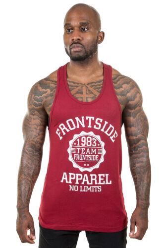 Gym Stringer Vest Burgundy Frontside Sportswear