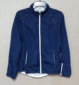 a2fde219be0 Danskin Now Women s Blue Athletic Sports Windbreaker Jacket Size S ...