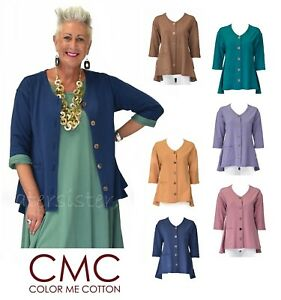CMC-by-COLOR-ME-COTTON-USA-5398-FRENCH-TERRY-A-Line-CARDI-POCKET-Top-2017-FALL