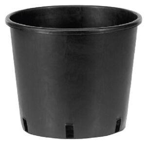 Image Is Loading 5 X Black 18l Large Plastic Plant Pots