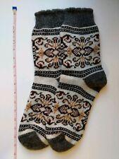 SOCKS SLIPPERS women/'s natural Russian 100/% sheep wool yarn HOME Knitted bird